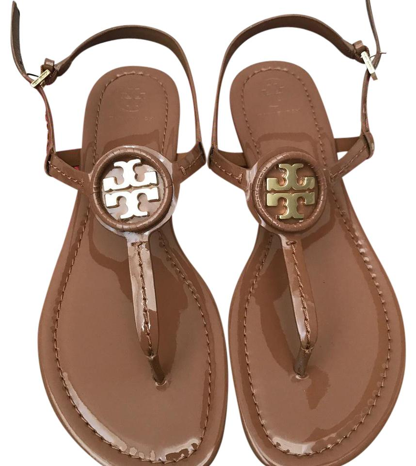 4f4557b6a102a7 Tory Burch Brown   Dillan   Soft Patent Leather Sandals Size US 8 ...