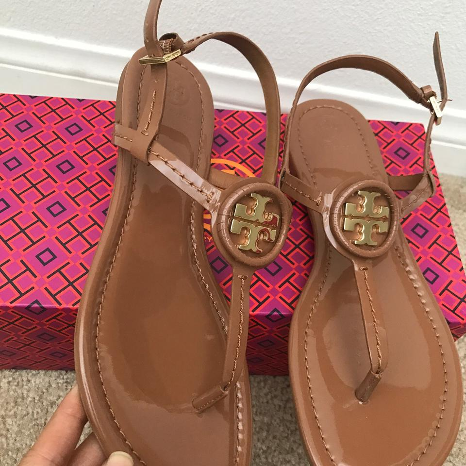 297530035f29 Tory Burch Brown   Dillan   Soft Patent Leather Sandals Size US 8 Regular  (M