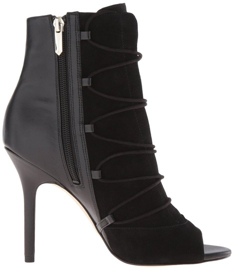 Sam Edelman Suede Leather Peep Toe Black Boots