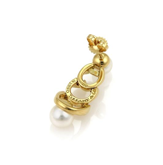 Tiffany & Co. Pearls 18k Yellow Gold Graduated Link Earrings