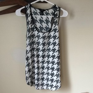 H&M Houndstooth Tank Top Black