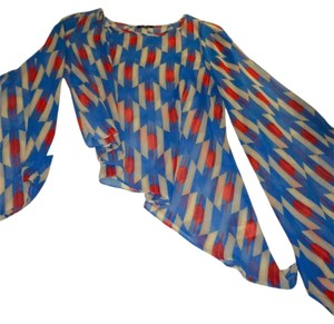 valentine Top blue/red multi