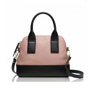 Kate Spade Leather Satchel in Rose Beige/Black