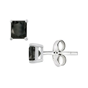 Marco B Black Onyx Stud Earrings in Sterling Silver 2.00 CT TGW