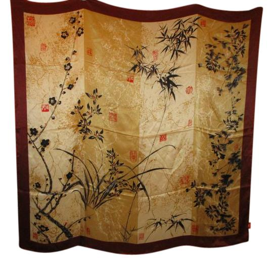 Preload https://img-static.tradesy.com/item/22020826/gold-multi-large-artist-signed-oriental-silk-scarfwrap-0-1-540-540.jpg
