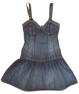 Guess short dress Dark Denim Jeans Romper on Tradesy