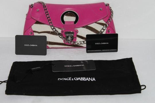Dolce&Gabbana Vintage Leather Pink Clutch