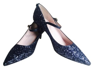 Kate Spade Glitter Heels 6.5 navy blue Pumps