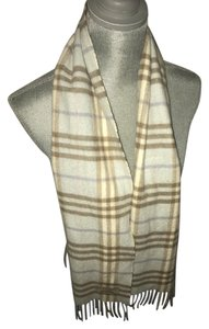 Burberry Blue Burberry Nova check cashmere scarf