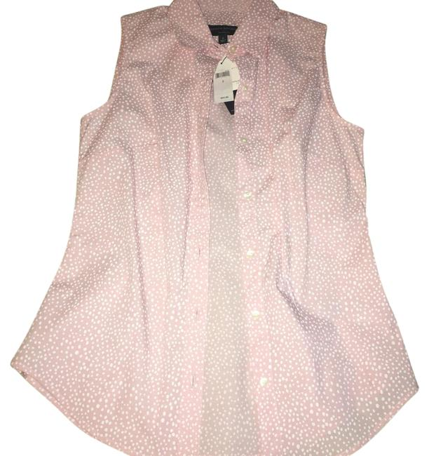 Item - Pink with White Tailored Fit Button-down Top Size 2 (XS)