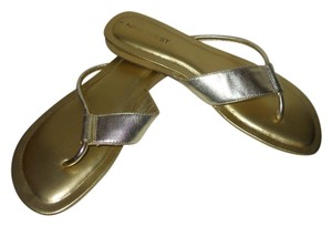Nine West Leather gold Sandals