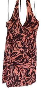 Jones New York short dress Brown/orange Sorbet Print Halter on Tradesy