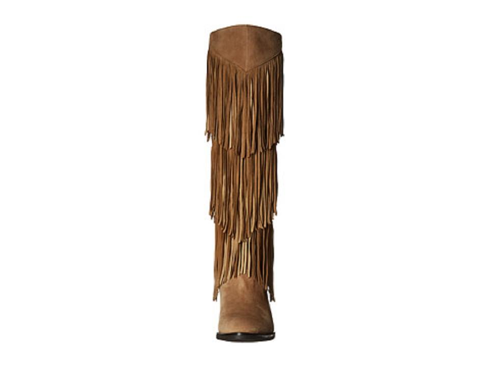45dfbfd8b Sam Edelman Oatmeal Pendra Fringe Suede Leather Knee High Boots Booties  Size US 7.5 Regular (M