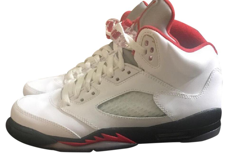pretty nice 9102a 0869e Air Jordan White Red and Black 5s Sneakers Size US Regular (M, B)
