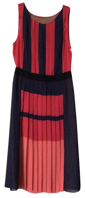 Item - Navy Blue Pink Peach Black Cocktail/Nightout Mid-length Night Out Dress Size 10 (M)