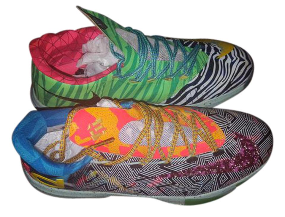 1224f5ae3f8a Nike What The Kd Exclusive Zebra Limited Green orange purple black white  Athletic Image 0 ...