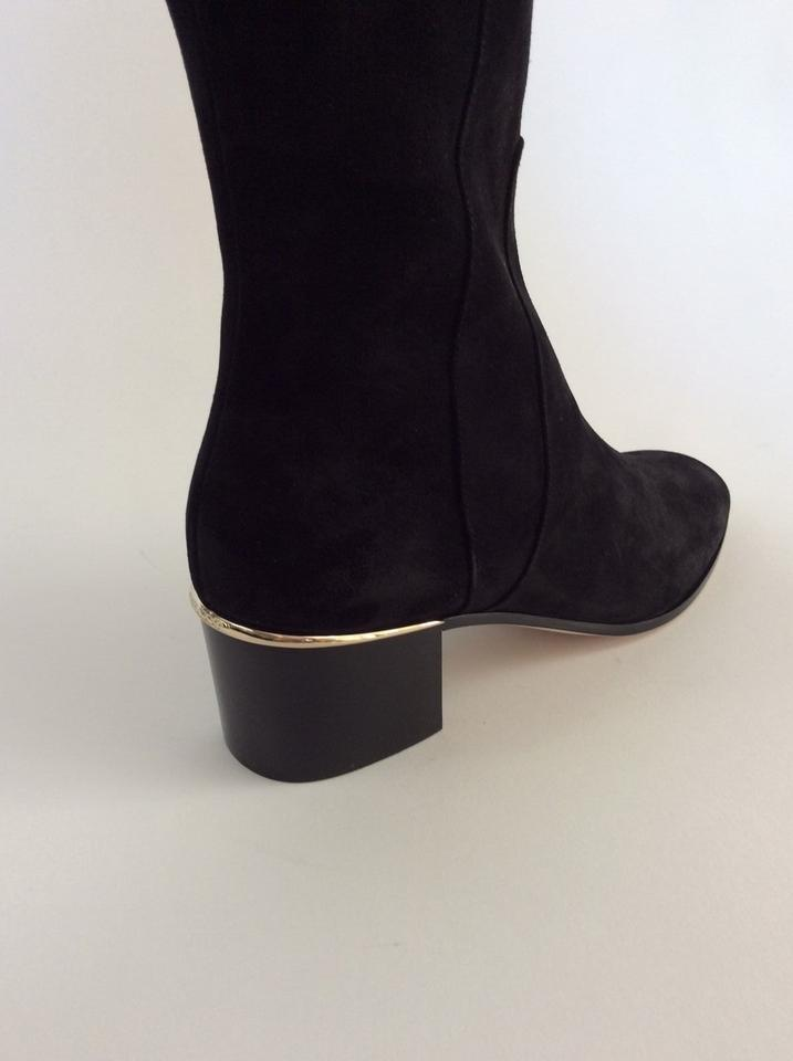 86dadf18cc4 Jimmy Choo Black New Harmony Over The Knee Suede Boots Booties Size ...