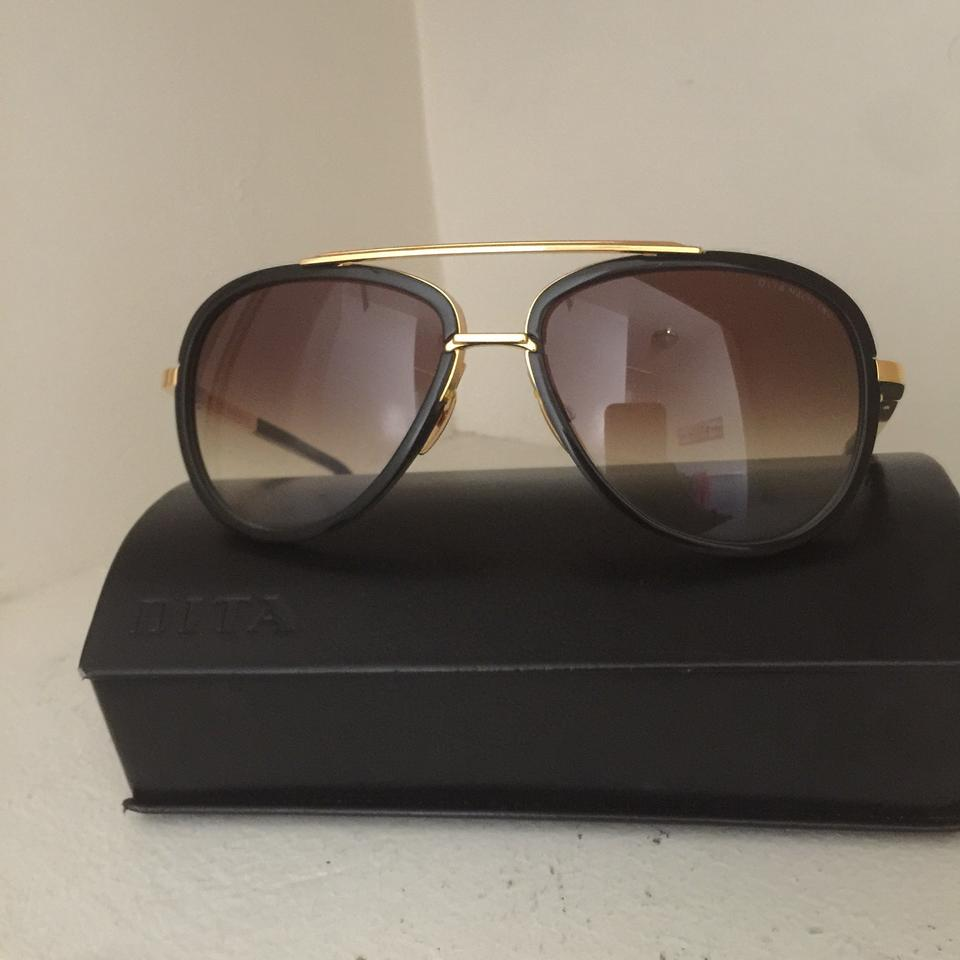 a6704fbbb676 Dita Brown Mach Two Aviator Grandmaster Condor Five 18k Gold Sunglasses -  Tradesy