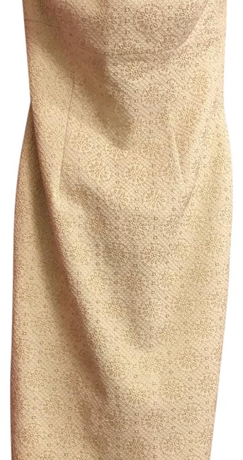 Item - Gold & Creme Brocade Strapless Mid-length Cocktail Dress Size 2 (XS)