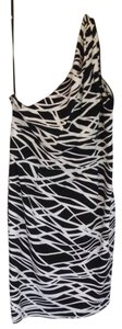 Calvin Klein short dress Black + White Print Animal One Shoulder on Tradesy