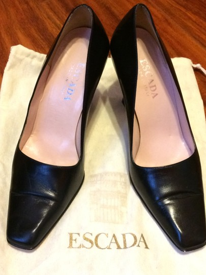 Escada Leather Black Pumps