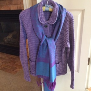 Mod-0-Doc lavendar with blue and lavender scarf Jacket