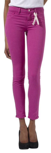 Item - Pink Fuschia Light Wash Colored Skinny Jeans Size 27 (4, S)