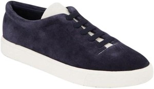 Vince Canyon Suede Low-top Slip-on Sneakers Navy Blue Flats
