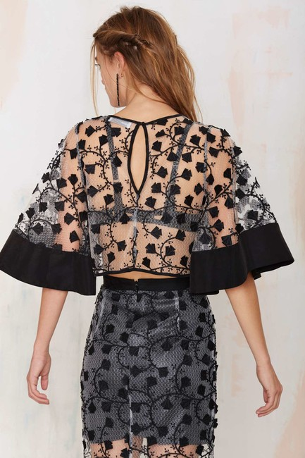 alice McCALL Top black / floral Image 1