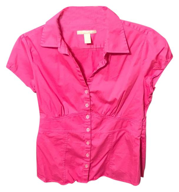 Item - Pink Shirt Button-down Top Size 10 (M)