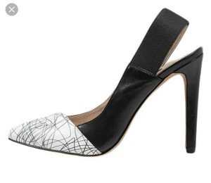 French Connection Black/White Pumps