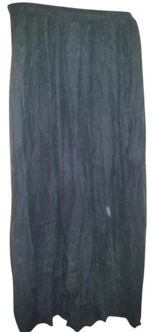 Item - Dark Navy Blue Large Finely Pleated Long Skirt Size 16 (XL, Plus 0x)