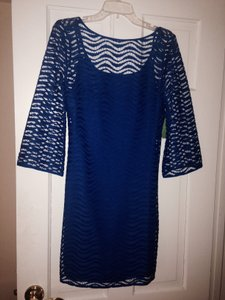 Lilly Pulitzer short dress Bright blue Lace on Tradesy