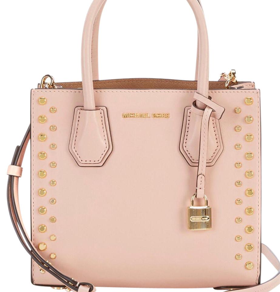 8f4ba6510ece7a ... Large Convertible Ballet Tote 298 Michael Kors Mercer  Crystal-Embellished Leather Crossbody ( BALLET ) MICHAEL Michael Kors  Satchel in ballet .