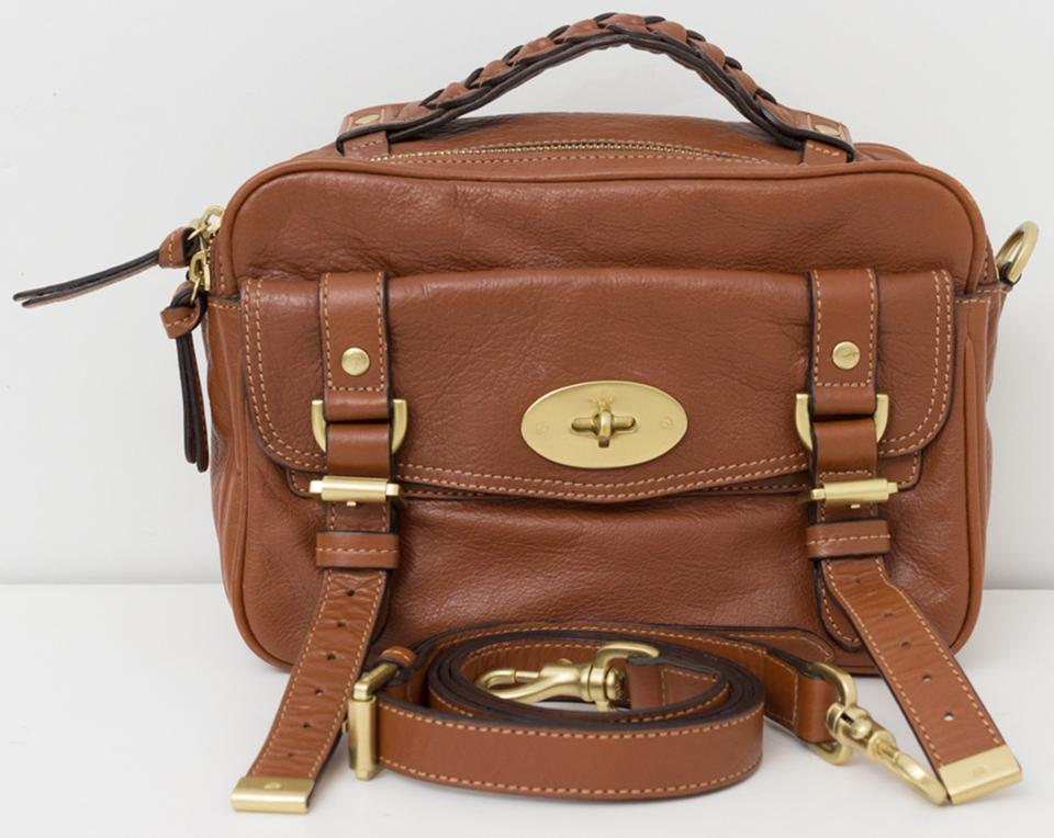 Mulberry Postman s Lock Camera Handbag In Oak Brown Leather Cross Body Bag 862c9b14a99df