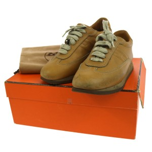 Hermès Sneakers Flats Gym Quicker Camel Athletic