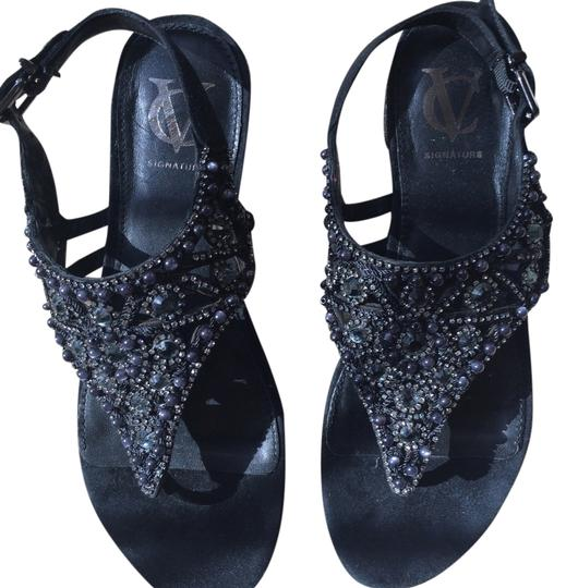 Vince Camuto Beaded Jeweled Suede Sandals