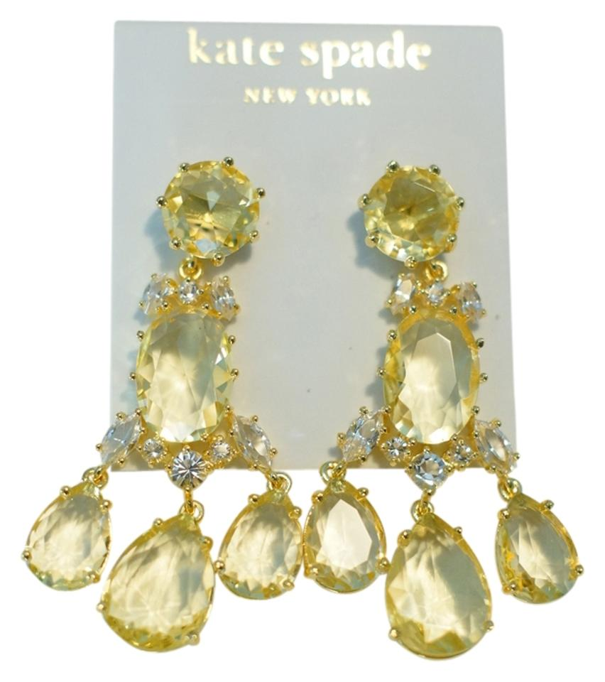 Kate spade gold new up the ante and yellow crystal chandelier msrp yellow crystal chandelier earrings msrp 128 1234 arubaitofo Gallery