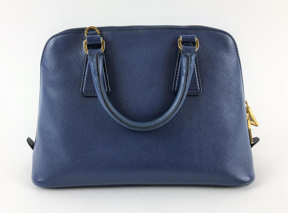 10ead8ca4e14 Prada Promenade Saffiano Small Satchel Royal Blue Leather Cross Body Bag -  Tradesy