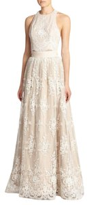 Alice + Olivia Ball Gown Skirt Embroidered Lace Overlay Wedding Skirt Dress