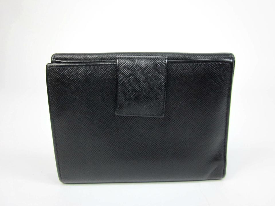 d105f62719a470 Prada Black Saffiano Logo Wallet | Stanford Center for Opportunity ...