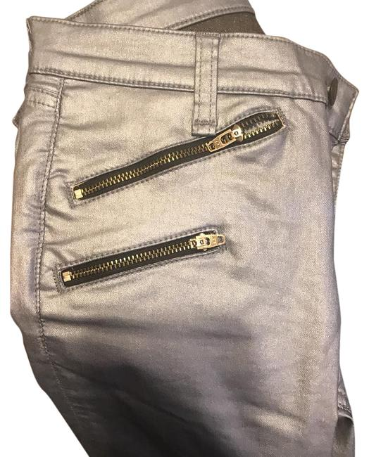 Item - Blue Coated Metallic Skinny Jeans Size 26 (2, XS)