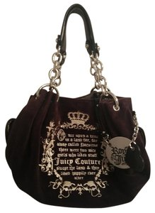 Juicy Couture Satchel in Black velour