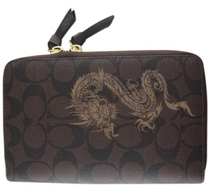 Coach Limited Edition Year of The Dragon Traveling Zip Around Wallet