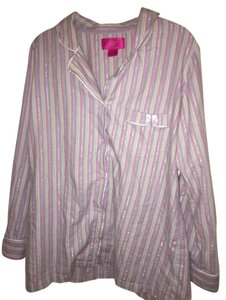 Lavender, lilac , pink Maxi Dress by Victoria's Secret Mayfair Pajamas Striped