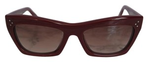 Cline NEW Celine CL 41802 Burgundy Cat Eye Sunglasses