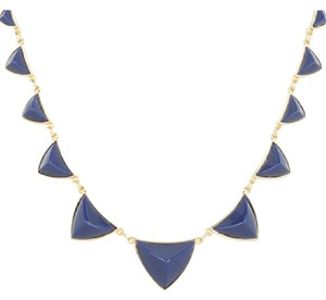 House of Harlow 1960 gold plated pyramid station necklace