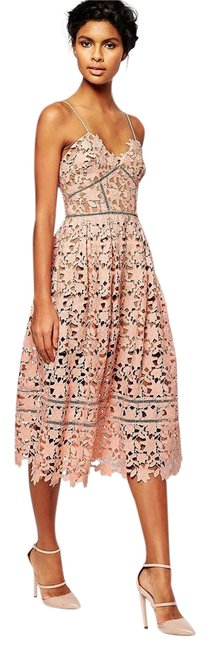 Item - Blush Pink New with Tags Azaelea Guipure Long Cocktail Dress Size 4 (S)