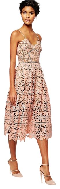 Item - Blush Pink New with Tags Azaelea Guipure Long Cocktail Dress Size 6 (S)