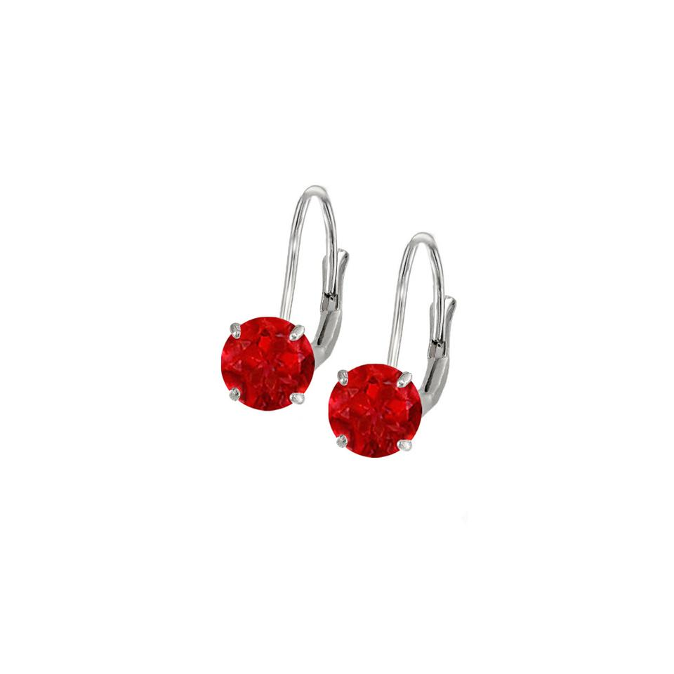 Marco B Created Ruby Leverback Earrings In 14k White Gold 2 00 Ct Tgw